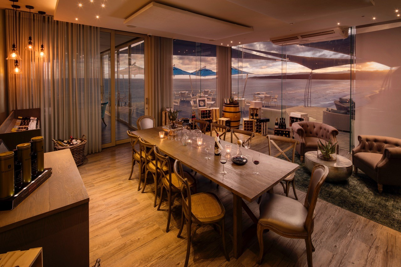 Views wine room and private dining area